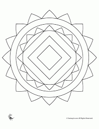 mandalas coloring pages free for kids with regard to easy mandala
