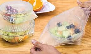 silicone cuisine up to 86 silicone food covers four pack groupon
