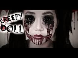 easy diy halloween costumes creepy doll makeup tutorial youtube creepy doll halloween makeup tutorial youtube