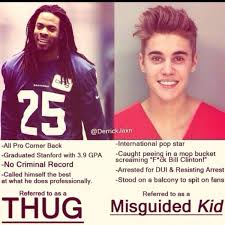 Stanford Memes - why is sherman a thug for boasting black america web
