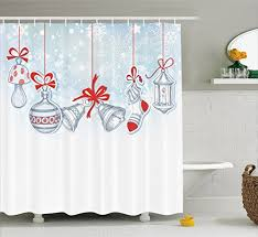 Snowflake Curtains Christmas Christmas Decorations Curtains Amazon Com