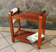 Teak Wood Shower Bench Tandea Teak Shower Stoolteak Bath Bench Stool Broyhill