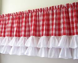 Red And White Plaid Curtains by Curtain Buffalo Check Curtains In Red And White P