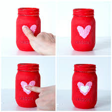 kid valentines kid craft thumbprint heart jars it all started with paint