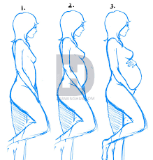 how to draw pregnant women step by step drawing guide by