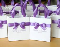 personalized wedding gift bags wedding welcome bags with satin ribbon and names