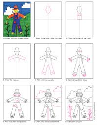 scarecrow in the field art projects for kids