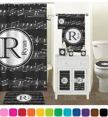 White Bathroom Accessories Ceramic by Musical Notes Bathroom Accessories Set Ceramic Personalized