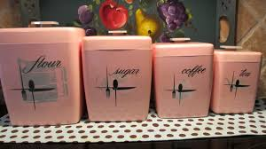 pink kitchen canister set antique canisters kitchen coryc me