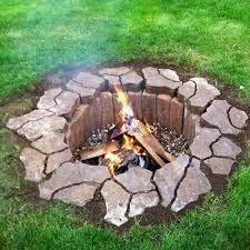 Rock Fire Pit Ideas Home Decorating Interior Design Bath - Backyard firepit designs