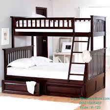jual tempat tidur tingkat kayu jati modern model tempat tidur