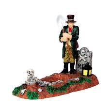 lemax spooky town lemax spooky town 42202 grave digger gift spice