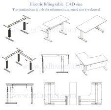 Reception Desk Cad School Furniture One Person Height Adjstable Desk For Student Desk