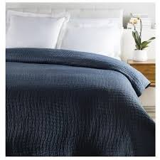 Solid Colored Comforters Alba Solid Navy Blue Cotton Silk Quilts U2013 Sky Iris