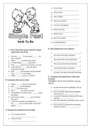 simple past tense for verb to be worksheet inspiration too