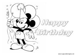 happy birthday coloring pages bebo pandco