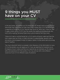 Things To Put In Your Resume 7 Obvious Mistakes To Avoid On Your Healthcare Cv