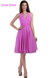 lilac dresses for weddings lilac halter neckline chiffon knee length bridesmaid dress wedding
