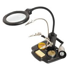 workbench magnifying glass with light sn 396 welding magnifying glass block magnifier cling type the