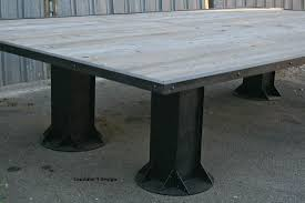 modern conference table design buy hand made vintage industrial conference table reclaimed wood