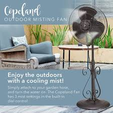 Patio Fans With Misters by Amazon Com Outdoor Misting Fan 3 Speed All Weather Pedestal