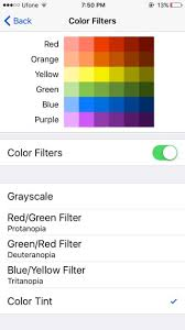 Blue Yellow Color Blind How To Enable Screen Filters To Compensate For Color Blindness In