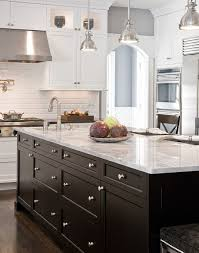 painted kitchen island stained or painted kitchen island bernier designs