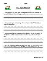 you make the call inferences worksheet making predictions