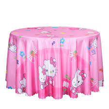 pink round table covers 10pcs blue pink cartoon printed table cover for kids decoration