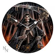 grim reaper gothic wall clock by anne stokes