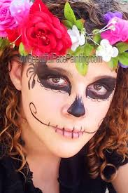 Skeleton Face Paint For Halloween by 97 Best Sugar Skull And Creepy Face Painting Images On Pinterest