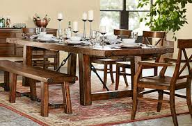 wood dining room sets dining room sets pottery barn