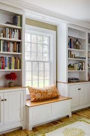 bookshelves with storage groton ma renovation with built in window seat and storage in