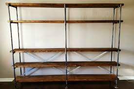 how to build industrial bookcases tempting thyme