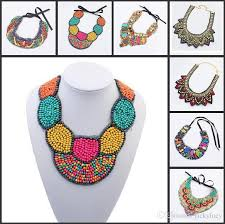 vintage necklace styles images Wholesale retail bohemian ethnic styles lace gemstone necklace jpg