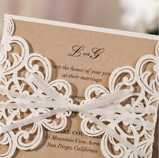 Engagement Invitations Card Aliexpress Com Buy Rustic Theme Laser Cut Wedding Invitation