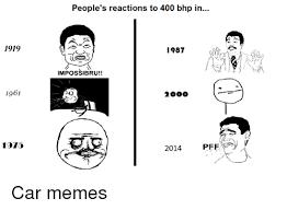 Impossibru Meme Generator - 1919 1961 1910 people s reactions to 400 bhp in 1987 impossibru