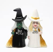 Salt Shaker Halloween Costume Good Witch Bad Witch Salt U0026 Pepper Shaker Witch Gifts