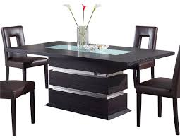 wenge frosted center glass wood global furniture usa g072dt rectangular dining table in wenge