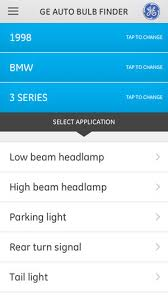 tail light bulb finder ge auto bulb finder on the app store