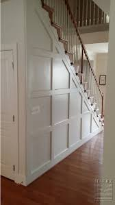 Wainscoting On Stairs Ideas Entry Stair Railing U2013 Split Foyer Foyers Batten And Staircases