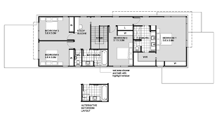 and bathroom house plans modern style house plan 4 beds 2 50 baths 2820 sq ft plan 496 27