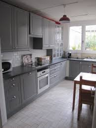 cuisine verte et grise decoration cuisine grise et bois les 20 meilleures idées de la