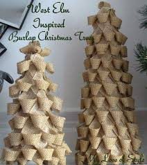 burlap christmas tree diy burlap christmas trees my of style my of style
