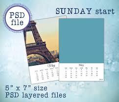 2018 and 2017 psd calendar templates 5x7 c07