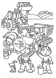 and friends coloring pages for kids printable free bob the builder