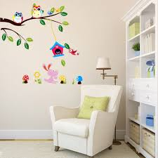kids room the talking walls fantastical forest nursery mural kids room children kids room wall sticker diy removable forest owl tree bird throughout kids