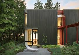 modern house in country modern metal clad homes dwell raw steel facade of house in idaho