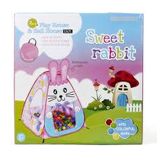 leu bong cho be lều bóng cho bé tobby li691 thỏ hồng 100 bóng