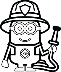 colouring pages jobs firefighter printable coloring postman